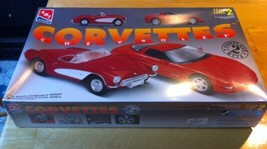 AMT 8325 CORVETTES 1957 & 1997 Plastic Model Car Kit 1/25 - $25.69