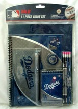 Los Angeles Dodgers Blue/Gray 11pc Stationary Set-Pencils,Pencil Case,Fo... - $19.79