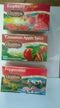 Celestial Seasonings Peppermint, Raspberry Ginger, Cinamon & Apple Spice... - £13.23 GBP