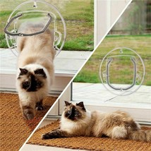 Small Door Flap Safe Lockable Cat Window Locking Round Dog Pets Security... - $57.49