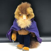 WALT DISNEY STORE PLUSH bean bag stuffed animal Beauty and the Beast Adam purple - $19.80
