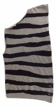 Balenciaga Paris Short Dress Tunic Size 40 Black Taupe Stripe Stretch - $94.99