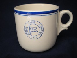 Vintage Moor Shipping Line Ltd Ironstone Coffee Cup Dunn Bennett & Co En... - $9.85