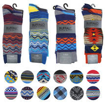Buffalo David Bitton Men's Multipack Geo Tribal Dress Socks in Assorted Colors