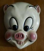 "PORKY PIG CERAMIC FACE MASK, WARNER BROTHERS 1988 ""VERY RARE"" - $200.00"