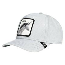 Goorin Bros Snapback Mesh Cap Unicorn Silver Glitter Grey Believer Trucker Hat image 2