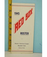 1945 Boston Red Sox Baseball Spring Player Roster #RS114 Ted Williams Wa... - $118.31