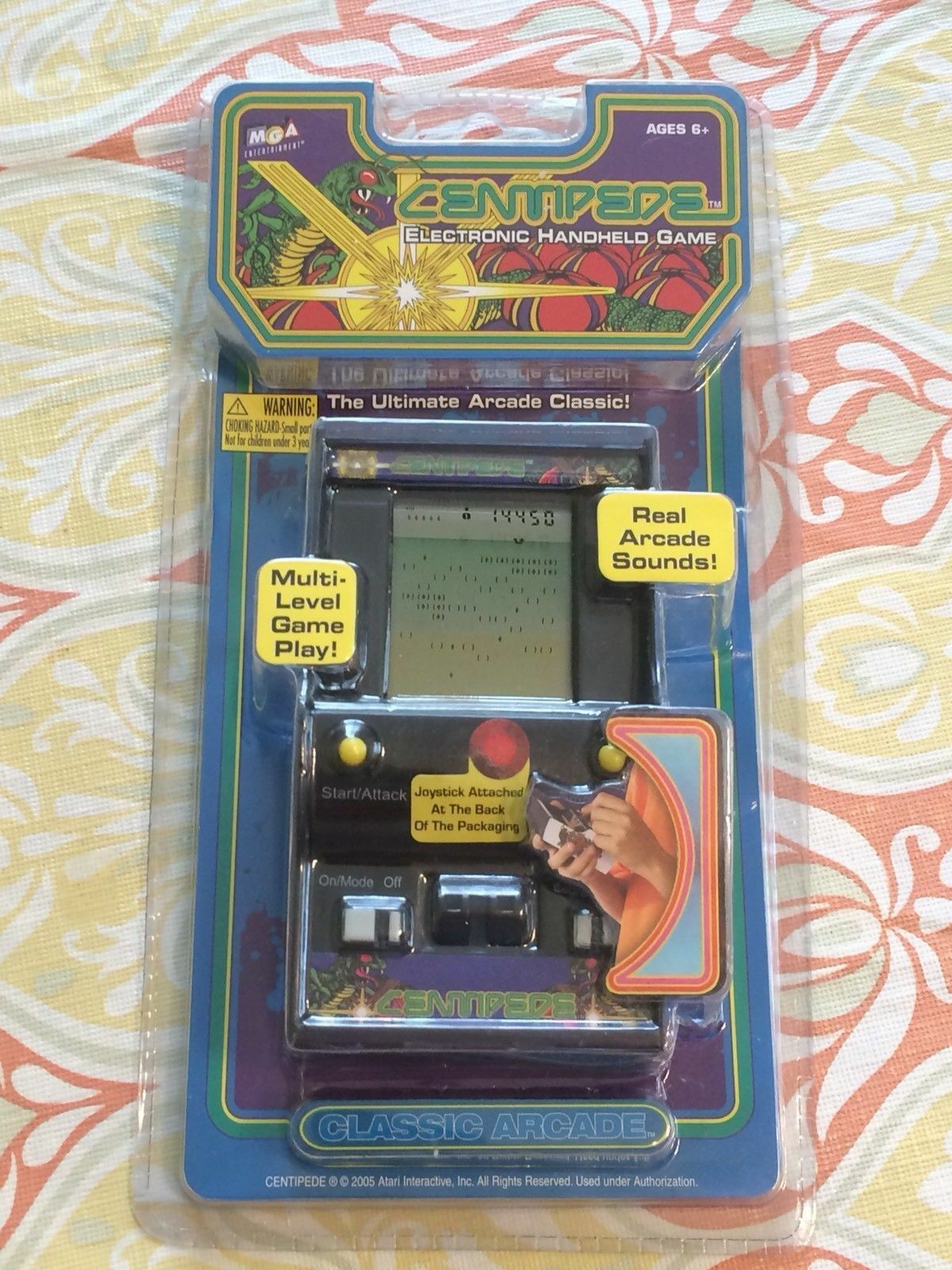 New Centipede Electronic Handheld Arcade Vintage Classic Lcd Video Toy Game Mga