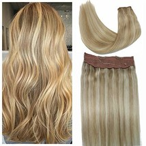 Queensstyle Hair Extensions Halo Hair Extensions Ombre Honey Brown mix with Blea