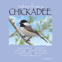 Chickadee Ladies T shirt S M L XL NWT Advice Bird Wildlife Cotton Gildan  - $20.20