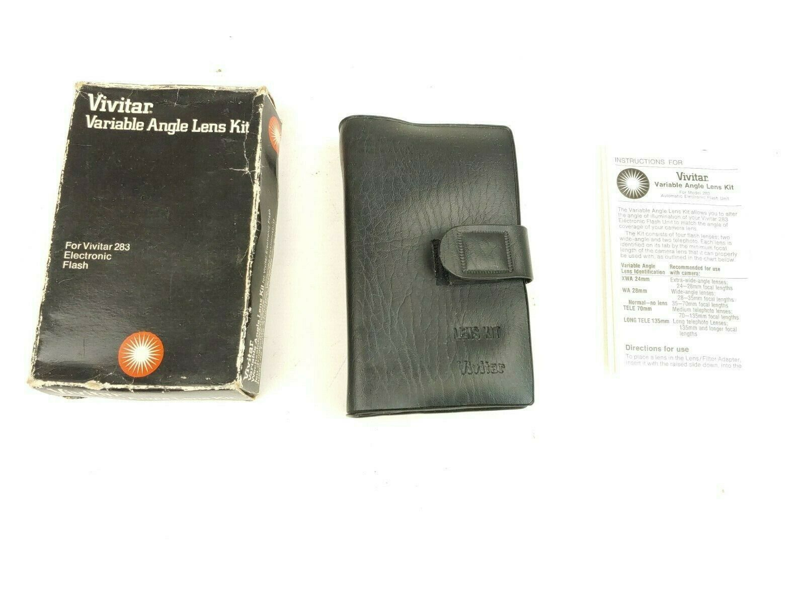 Primary image for Vivitar Variable Angle Lens Filter Kit - For Model 283 Flash - IN ORIGINAL BOX