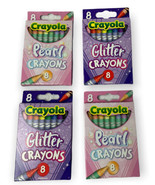Crayolas Crayons Pearl and Glitter lot of 4 - 8 Packs - $10.99