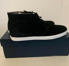 Mens Size 9.5 M Cole Haan Black Suede Mid High Sneakers C20607 - $59.39