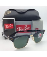 Polarized Ray-Ban Sunglasses CLUBMASTER RB 3507 136/N5 49-21 Black-Gold ... - $244.95