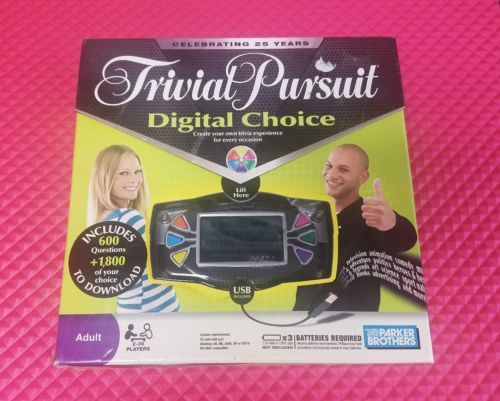 HASBRO TRIVIAL PURSUIT DIGITAL CHOICE ADULT GAME 2-36 PLAYERS