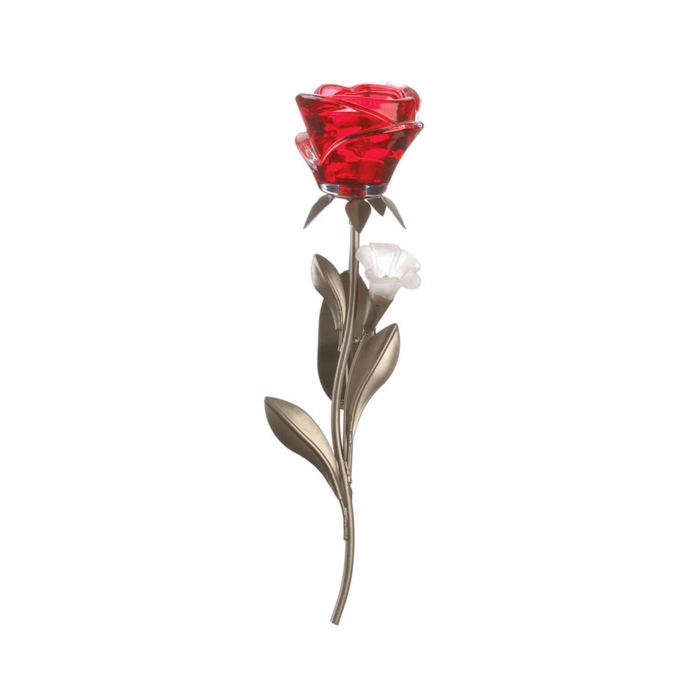 Single Red Rose Wall Sconce - $24.36
