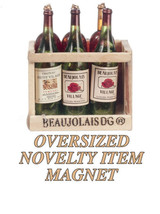 DOLLHOUSE MINIATURES 7 PC WINE BOTTLES IN RACK SET #G8233 - $2.77