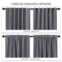 Long Blackout Curtains Back Tab & Rod Pocket Thermal Insulated Drapes Da... - $119.68