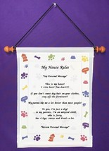 My House Rules {from dog} - Personalized Wall Hanging (959-1) - $18.99