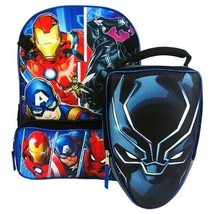 """MARVEL AVENGERS 16"""" Full-Size Backpack w/ Attached Insulated Lunch Tote Box  $35 - $21.77"""