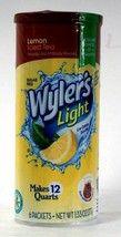 1 Count Wyler's Light 1.33 Oz Lemon Iced Tea Sugar Free 6 Count Pitcher ... - $11.99