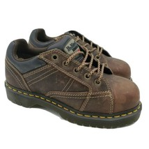 Dr Do Martens Steel Safety Toe Brown Leather Boots Mens Size 6 Womens 7 - €54,40 EUR