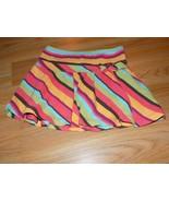 Girls Size 4 Gymboree Jungle Gem Striped Skirt Skort Brown Orange Coral ... - $12.00