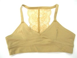 Maiden Form Girl  Puberty Bra Size Large NWT Tan Racer Back Lace Cotton ... - $12.86