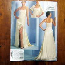 Vogue Chado Ralph Rucci Pattern Evening Gown Stole Uncut FF Prom Formal ... - $22.99