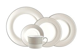Royal Doulton Etoile Platinum DINNER SET /4 FINE BONE CHINA MADE IN ENGLAND NEW - $99.25