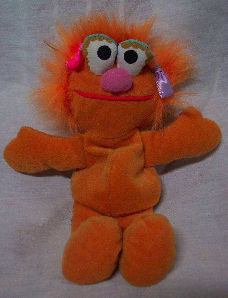 "Primary image for TYCO Sesame Street ZOE 7"" Bean Bag STUFFED ANIMAL Toy 1997"