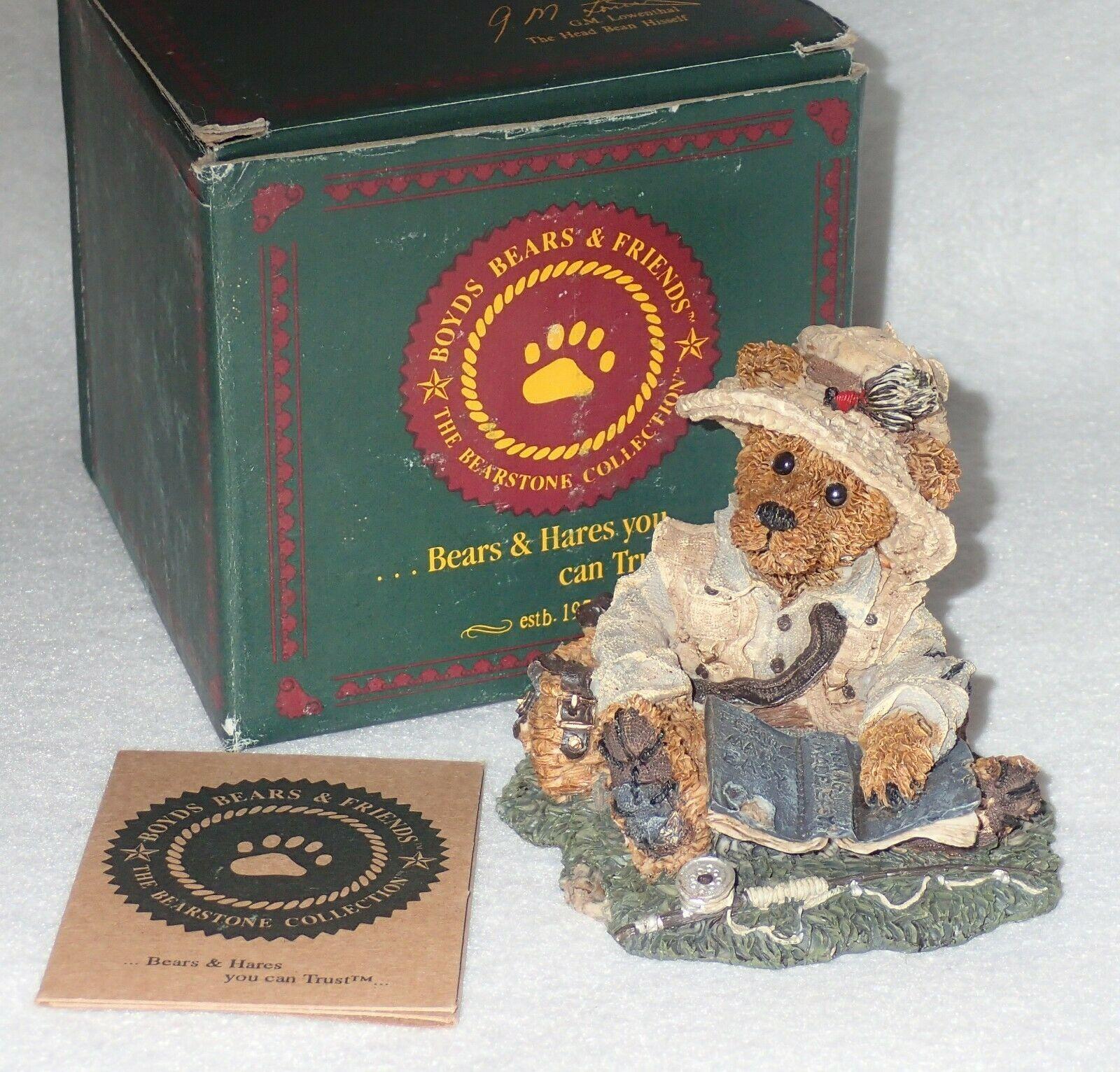 Boyd Bearstone Resin Bears Otis The Fisherman Figurine #2249-06 5E NEW IN BOX image 3