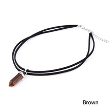 Nice Brown Tone Reiki Gem Necklace >> Combin Shipping << (7263) - $3.91