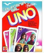 Mattel CALIFORNIA GIRL BARBIE UNO Card Game - $35.00