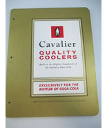 Coca-Cola 31 Cavalier Cooler Salesman Information Sheet Pages Vintage - $34.65