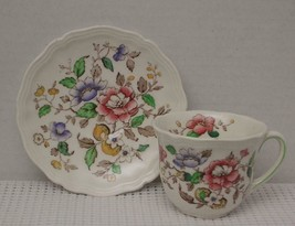 ROYAL DOULTON Demitasse Tea Cup & Saucer MONMOUTH Made in England EUC - $19.39