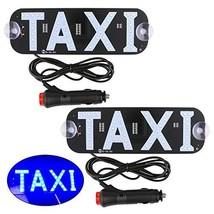 Sdootauto Taxi LED Sign Decor, 2 Pack LED Light Sign Logo, Flashing Hook on Car