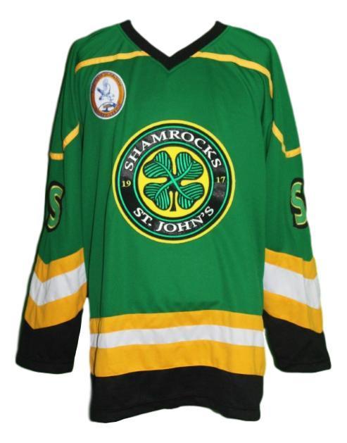 Rhea  3 custom st john s shamrocks retro hockey jersey green  1