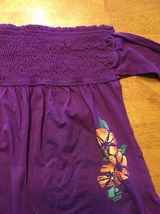 Arizona Girl's Purple Halter Top Shirt / Blouse Size: Medium image 5