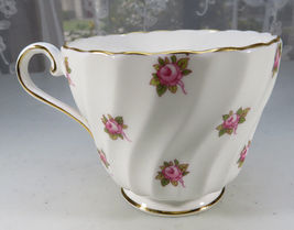 Vintage Aynsley Porcelain Tea Cup Hathaway Bone China Pink Roses England image 5