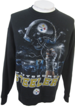 Pittsburg Steelers Sweatshirt NFL Team Apparel L black Jerzees - $17.24