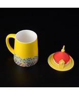 Yellow Dragon Phoenix Mug Ceramic Emperor Empress Coffee Milk Tea Cup - $110.45