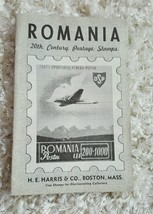 Vintage Romania 20th CenturyStamps from H.E Harris Postage Stamp Catalog  - $9.50