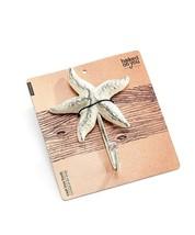 Starfish Single Hook Nautical Cast Iron Set 4 same color- Brown, Black or White image 2