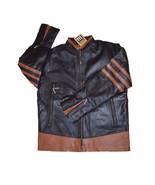 Men X Men Vintage Dark Brown Real Sheep Skin Leather Jacket - $159.99
