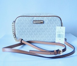 NWT MICHAEL KORS JET SET EW SIGNATURE MEDIUM CROSSBODY- VANILLA - $97.50