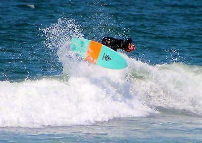 "Paragon Retro Fish 6'0"" Blue-Orange-Blue Surfboard"
