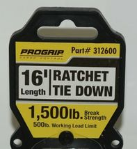 Progrip 312600 16 Foot by 1 inch Ratchet Tie Down S Hooks Yellow image 3