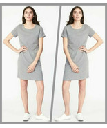 Old Navy Heather Gray Crew Neck Short Sleeves Shift Tee Dress Size - Ext... - $24.95