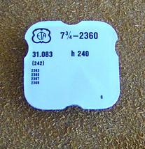 ETA 7 3/4 L cal 2360 h240 parts #242 Center Wheel & Canon Pinion Watch Part - $25.00
